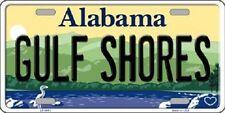 Gulf Shores Alabama Background Novelty Metal License Plate