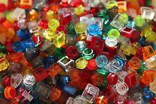 Lego 200 Stück transparente 1x1 Kleinteile viele Formen und Farben trans
