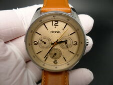 NEW OLD STOCK FOSSIL BQ3142 DAYDATE LEATHER STRAP QUARTZ WOMEN WATCH