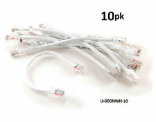 "10-PACK 6"" Assembly Cat5e Ethernet Non-Boot RJ45 Network Cable, White"