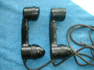 Pair of WWII Navy RCA MI-2040-A Field Telephone Handsets