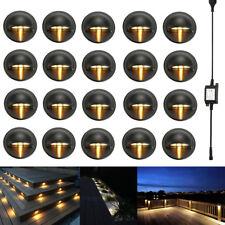 20Pcs/Set LED Deck Step Stair Light Outdoor Landscape Yard Lighting Warm White