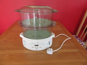 Tefal Steam Cuisine 2 tier electric steamer,turbo diffusion, used  900cl