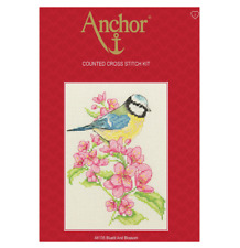 Anchor Bluetit and Blossom Counted Cross Stitch Kit Ak135 Bird & Flowers -