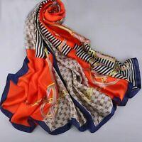 Women Fashion Summer Silk Pashmina Long Shawl Large Wrap Luxury Scarves 180*90cm