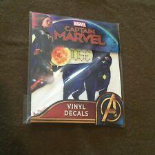 Captain Marvel Vinyl Decals NEW MINT Target Exclusive