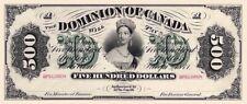 Dominion of Canada, 500 Dollars, 1871, P.14, REPRODUCE
