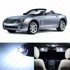 10 x White LED Interior Light Package For 2004 - 2008 Chrysler Crossfire + TOOL