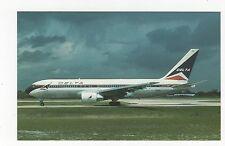 Delta Airlines Boeing 767-232 N108DL Aviation Postcard, A658