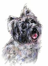 """CAIRN TERRIER #2    DOG  ACEO Art  Card Print by A Borcuk  2.5""""x3.5"""""""