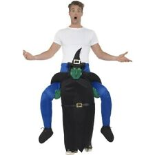 Adult Ride On Witch Costume Halloween Mock Legs Witches Piggyback Fancy Dress