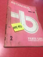 Honda C90 Super Cub C 90 liste catalogue pièces détachées édition 2 , 1968