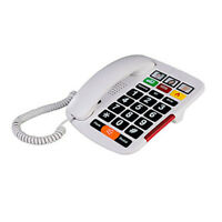 Big Button Corded Phone with 3 One-Touch Speed Dials + Picture Phone for Seniors