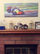 Screamin' Roadracers canvas print by D.A.M. from Art Gallery of California