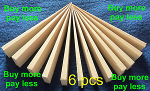 set of 6 Wooden Shims Wedges leveling door frame fixing windows packers spacer