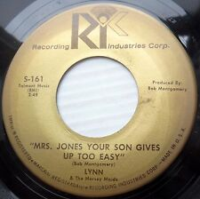 LYNN & the MERSEY MAIDS rock 45 MRS JONES YOUR SON GIVES UP TO EASY vg++ F1528