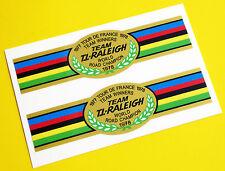 "Raleigh Stile Vintage ""TOUR DE FRANCE vincitori 1977/78' Adesivi Bicicletta Decalcomanie"