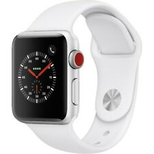 Apple Watch Gen 3 38mm Silver Aluminum 3 Cell with White Band MTGG2LL/A GRADE A
