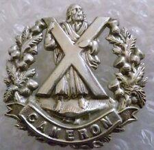 Badge- Cameron Highlanders British Army Military Badge (100% Genuine*)