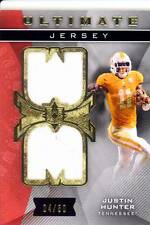 justin hunter rookie rc draft dual jersey patch tennessee vols college #/50 2013