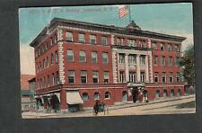1915 YMCA Building pc Jamestown NY in city to Harry Shatto/be at telephone pole