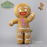 "Dreamworks Shrek Movie Gingerbread Man Gingy Plush Stuffed Toy Doll 19"" New"