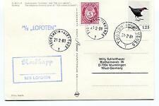 1981 M/S Lofoten Nordkapp Trondheim Norge Polar Antarctic Cover
