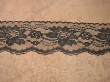 10 Yards BLACK 3 Inch In Wide Lace NEW