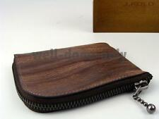 new J.Fold Stone cream Half Zip Around mens coin pouch Card Case Wallet NIB gift