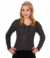 Banned Apparel Crystal Air Vintage Retro 50s Knitted Cardigan