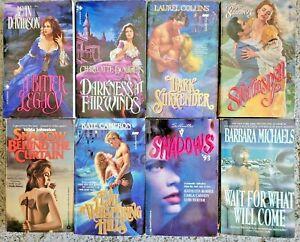 GOTHIC ROMANCE / ROMANTIC SUSPENSE PAPERBACK 8 BOOK LOT NOVELS MICHAELS COLLINS
