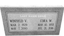 """Granite Headstone ( L24"""" x W12"""" x H4"""" ) Double Companion"""
