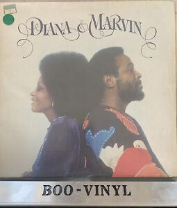 "DIANA ROSS & MARVIN GAYE "" DIANA & MARVIN"" LP (1973) TAMLA MOTOWN STMA 8015 VG+"