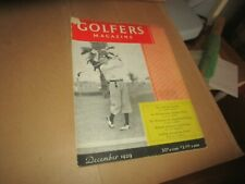 Rare December 1929 Golfers Golf Magazine Horton Smith on Cover Bobby Jones