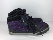 Skechers Black And Purple Hightop Shoes Size 7 Women's