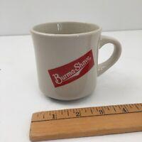 Vintage BURMA-SHAVE Ceramic Barber Shave Mug - Red Graphic- Coffee Mug - Barber