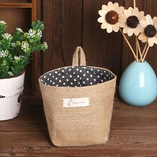 Soft Polka Dot Small Storage Sack Cloth Hanging Non Woven Storage Basket Gift
