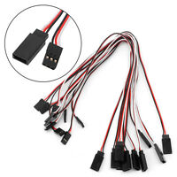 10pcs 300mm Extension Servo Wire Lead Cable Cord For Futaba JR Male To Female