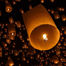 1PC Paper Chinese Fire Sky Wish Lantern Fly Sky Fire Candle Lamp Party Decor