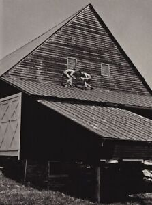 1990s BRUCE WEBER Young Shirtless Men Wrestling Barn Roof Fight Photo Art 11X14