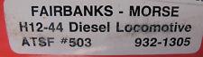 Walthers Fairbanks - Morse H12-44 Diesel Locomotive AT&SF #503  932-1305