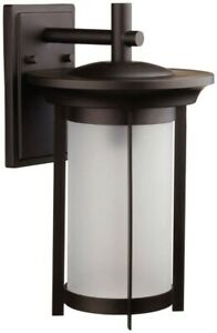 Globe Scottsdale Dark Bronze Outdoor Wall Lantern 43888