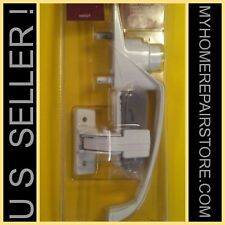 FREE S&H! S.PARKER WHITE PUSH-BUTTON STORM & SCREEN DOOR HANDLE WITH NIGHT LATCH