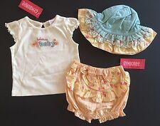 NWT Gymboree Summer Safari 6-12 Months Bohemian Baby Tee Bloomer Shorts & Hat