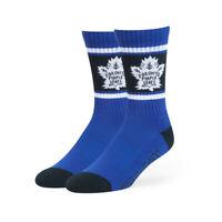 New Toronto Maple Leafs Men's NHL Hockey 47 Brand Blue Sport Socks Size 9-13