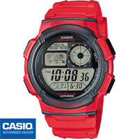 CASIO AE-1000W-4AVEF*AE-1000W-4A**ORIGINAL*ENVIO CERTIFICADO*ROJO*SUMERGIBLE*RED
