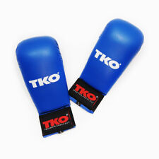 TKO Karate sparring Gloves Without Thumb Size L blue