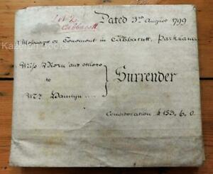 Antique Georgian Indenture Relating To Cabbarutt Parkham Devon 1799