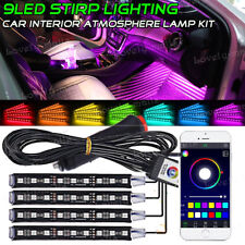 Bluetooth APP LED Interior Car Kit Under Dash Footwell Seats Inside RGB Lighting
