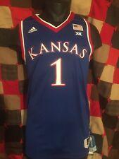 Adidas Mens Basketball Jersey Kansas #1 Medium Blue New With Tag